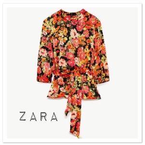 Zara TRF Top With Wrap Around Belt - NWT